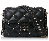 VALENTINO Casual Style Studded Plain Party Style Office Style