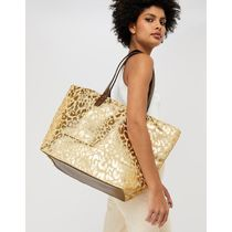 Accessorize Leopard Patterns Casual Style Street Style A4 Totes