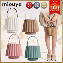 mlouye Casual Style Suede Blended Fabrics Street Style 2WAY Plain