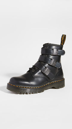 Dr Martens Mountain Boots Plain Leather Logo Outdoor Boots