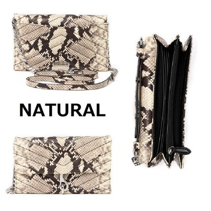 Casual Style 2WAY Chain Leather Python Elegant Style