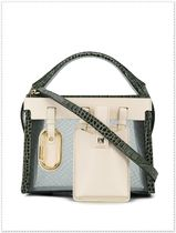 SALAR MILANO Casual Style Leather Totes