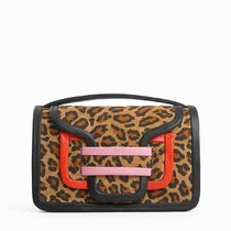 Pierre Hardy Leopard Patterns Casual Style Leather Elegant Style