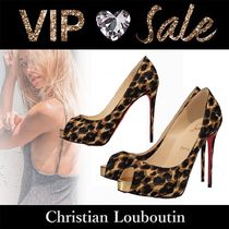 Christian Louboutin Leopard Patterns Casual Style Pin Heels Handmade