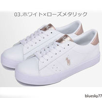 POLO RALPH LAUREN Casual Style Unisex Logo Low-Top Sneakers