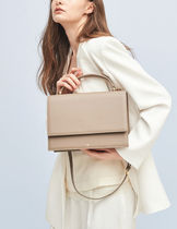 hoze 2WAY Plain Leather Elegant Style Crossbody Shoulder Bags