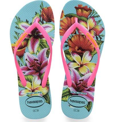 Flower Patterns Tropical Patterns Casual Style Flip Flops