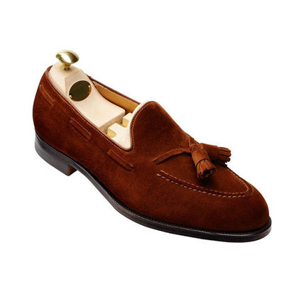 Loafers Suede Blended Fabrics Tassel Plain U Tips