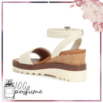 See by Chloe Open Toe Platform Round Toe Plain Leather Strap Sandals