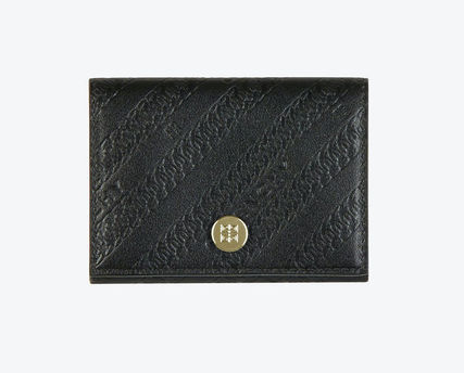 GIVENCHY Street Style Leather Folding Wallet Small Wallet Logo
