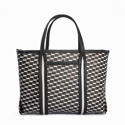 Casual Style Leather Office Style Elegant Style Totes