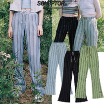 SCULPTOR Stripes Casual Style Street Style Long Logo Pants