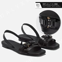 ALYX Open Toe Square Toe Casual Style Street Style Plain Leather