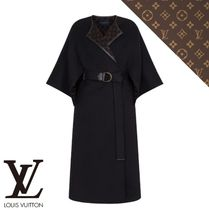 Louis Vuitton Monogram Casual Style Wool Plain Party Style Office Style