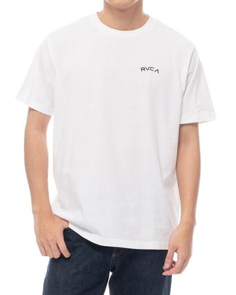 RVCA Crew Neck Crew Neck Unisex Plain Short Sleeves Logo Crew Neck T-Shirts 3