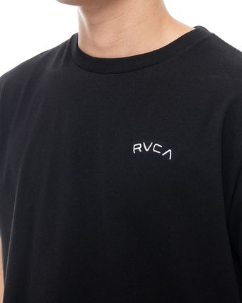 RVCA Crew Neck Crew Neck Unisex Plain Short Sleeves Logo Crew Neck T-Shirts 8