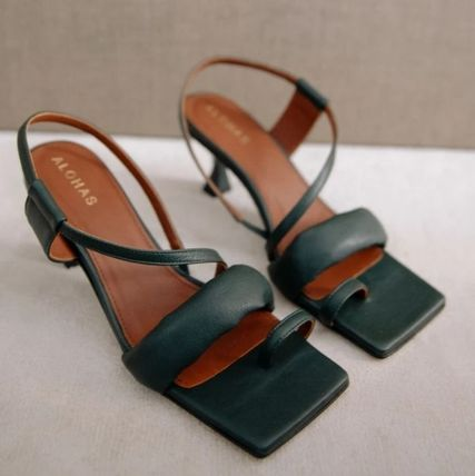 Square Toe Casual Style Plain Leather Office Style