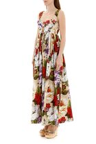 Dolce & Gabbana Flower Patterns Tropical Patterns Casual Style Maxi A-line