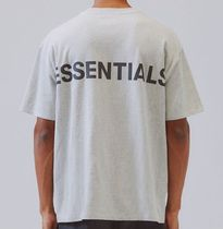 FEAR OF GOD ESSENTIALS Crew Neck Unisex Street Style Short Sleeves Oversized Logo