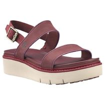 Timberland Rubber Sole Plain Leather Platform & Wedge Sandals