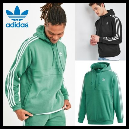 adidas Hoodies Unisex Street Style Long Sleeves Plain Logo Hoodies