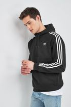 adidas Hoodies Unisex Street Style Long Sleeves Plain Logo Hoodies 8