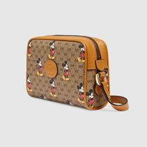 GUCCI Casual Style Canvas Blended Fabrics Collaboration