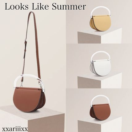 Plain Leather Party Style Elegant Style Crossbody Handbags