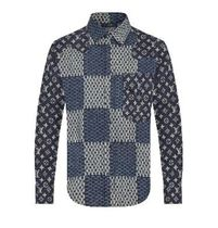 Louis Vuitton Camouflage Silk Long Sleeves Logo Luxury Shirts