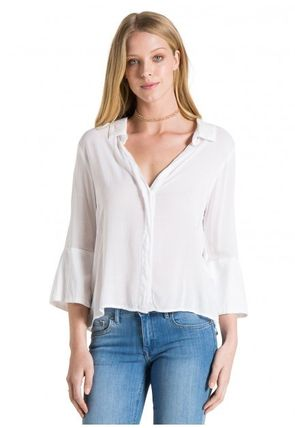 bella dahl Casual Style Plain Office Style Shirts & Blouses