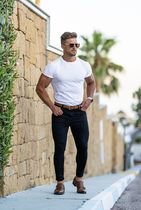 Father & Sons More T-Shirts Street Style Plain Short Sleeves T-Shirts 4