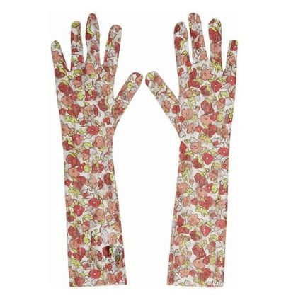 Flower Patterns Blended Fabrics Collaboration Gloves Gloves