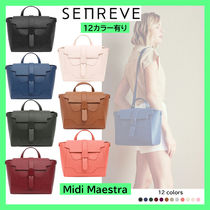 senreve Casual Style 2WAY 3WAY Plain Leather Party Style