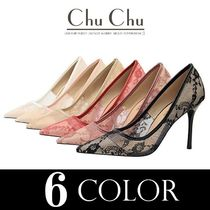 Flower Patterns Pin Heels Party Style Elegant Style Bridal