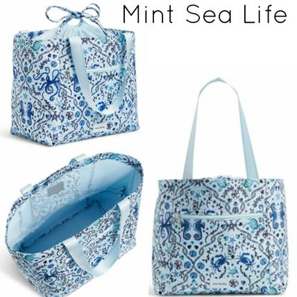 Flower Patterns Casual Style Street Style Purses Bucket Bags