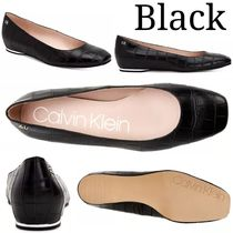 Calvin Klein Square Toe Platform Casual Style Blended Fabrics