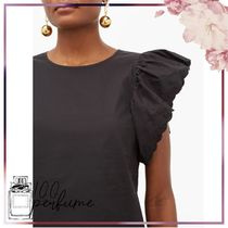 See by Chloe Plain Short Sleeves Lace Shirts & Blouses
