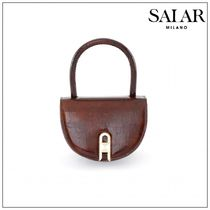 SALAR MILANO Casual Style Plain Elegant Style Formal Style  Shoulder Bags