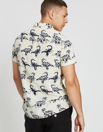 Flower Patterns Tropical Patterns Short Sleeves Surf Style
