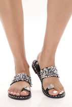FASHION NOVA Casual Style Studded Party Style Flip Flops With Jewels