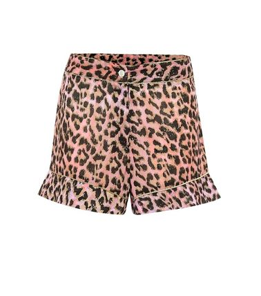 Short Leopard Patterns Casual Style Cotton Co-ord