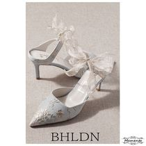 BHLDN Flower Patterns Leather Bridal Shoes