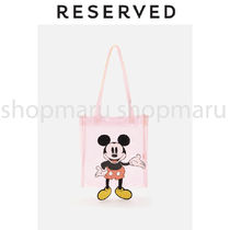RESERVED Casual Style Street Style Plain Crystal Clear Bags