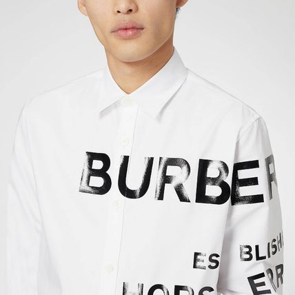 Burberry Shirts Unisex Long Sleeves Cotton Logo Luxury Shirts 9