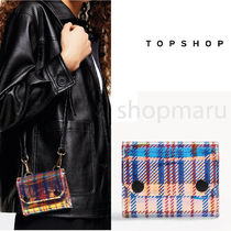 TOPSHOP Tartan Casual Style 2WAY Party Style Crystal Clear Bags