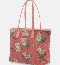 Cath Kidston Flower Patterns Casual Style Elegant Style Logo Totes