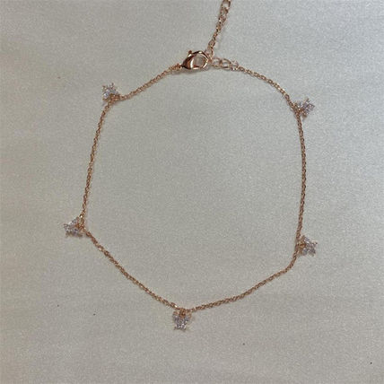 Girlscrew Costume Jewelry Casual Style Brass 18K Gold Anklets