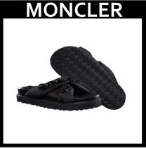 MONCLER Open Toe Casual Style With Jewels Slippers Sandals Sandal