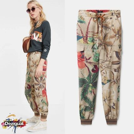 Printed Pants Flower Patterns Tropical Patterns Casual Style