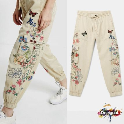 Printed Pants Flower Patterns Casual Style